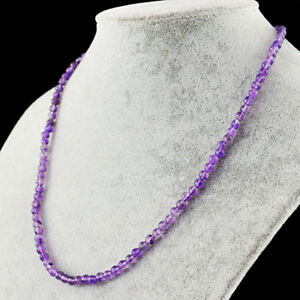 69-00-Cts-Natural-Single-Strand-Purple-Amethyst-Untreated-Round-Beads-Necklace