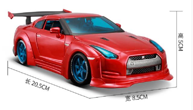 Maisto 1:24 NISSAN GTR GT-R R35 Tokyo Mod Diecast Model Racing Car Vehicle Toy