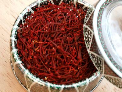 1 Gram pure genuine saffron spice, ISO grade I (all red), New harvest crop