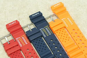8c721499856 Rubber Divers ND Limits Polyurethane Watch Strap Fits Seiko Citizen ...