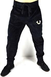True-Religion-Men-039-s-Velvet-Relax-Slim-Jogger-Sweatpants-Pants-101383-Size-S