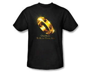 LORD OF THE RINGS GOLD T-SHIRT PROMOTIONAL MEDIUM One Ring To Rule Them All