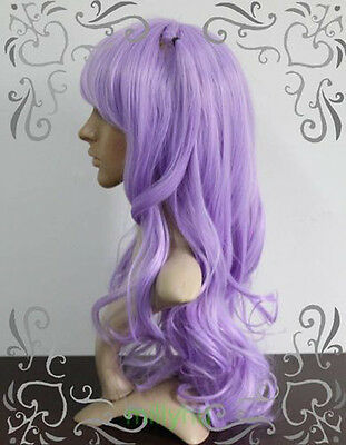 New - Lolita Cosplay Fashion Light Purple Party Curly Wig  + Free wig cap  AE133