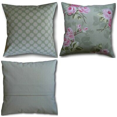 Designer Clarke and Clarke Westonbirt Sage Green fabric Cushion Cover