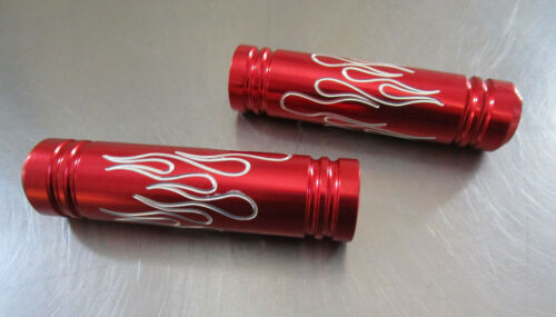 Goped Parts Billet Flame Handle Bar Grips RED