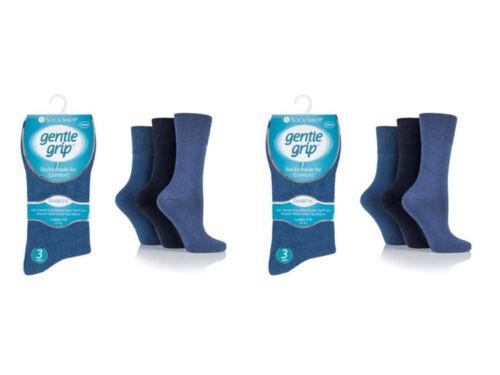 Ladies Cotton Rich Everyday Comfort Blue Socks UK 4-8 EU 37-42
