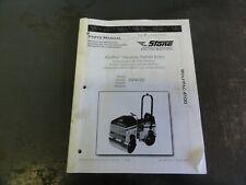 Stone Wp4100 Wolfpac Vibratory Compactor Asphalt Roller Parts Manual