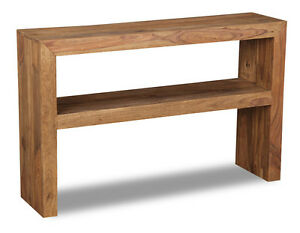 Image Is Loading CUBE NATURAL SHEESHAM FURNITURE CONSOLE TABLE C23N