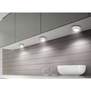 Details About 6pcs Battery Operat Stick On Led Lights Wireless Under Kitchen Wardrobe Lamp Diy