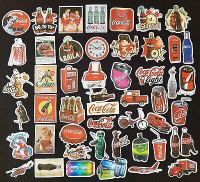 Classic Coke Cola Sticker Retro Pin Up Drink PC Car Decal Kids Red Treat Soda
