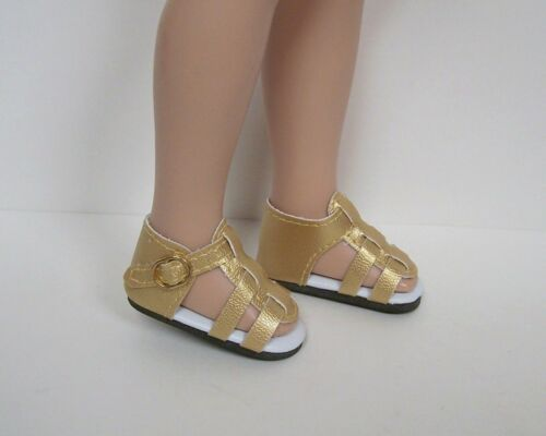 "Debs GOLD Strappy Sandals Doll Shoes For Tonner 14/"" Betsy McCall"