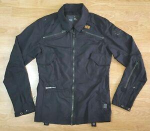G Star Raw Denim leichte Jacke Biker Mantel Over Shirt Gstar Damen Größe S