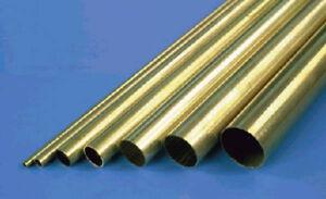 Metal-Manualidades-Mks-9830-Fino-Pared-Tubo-de-Laton-1mmx300mm-Set-de-4