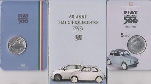 Italien-Italia-5-euro-Fiat-500-cinquecento-silber-argento-2017