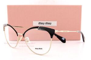 afcea96e04d Brand New Miu Miu Eyeglass Frames MU 50P 50PV 1AB BLACK GOLD For ...