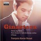 Ginastera: Danzas argentinas; Piano Sonata 1; Suite de danzas criollas; 3 Pieces (2015)