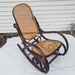Remarkable Details About Vintage Bentwood Wicker Cane Rocking Chair Mid Century Modern Local Pickup Gmtry Best Dining Table And Chair Ideas Images Gmtryco