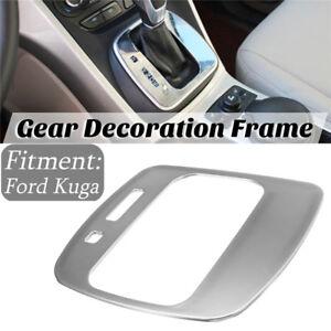 For-Ford-Escape-Kuga-2013-2016-Chrome-Gear-Shift-Panel-Trim-Frame-Cover
