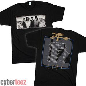 U2-T-Shirt-Joshua-Tree-OFFICIAL-LICENSED-1987-Europeon-Tour-Tee-w-Dates-S-2XL