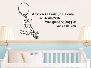 Image Is Loading Winnie The Pooh Wall Decal Kid Quote Vinyl