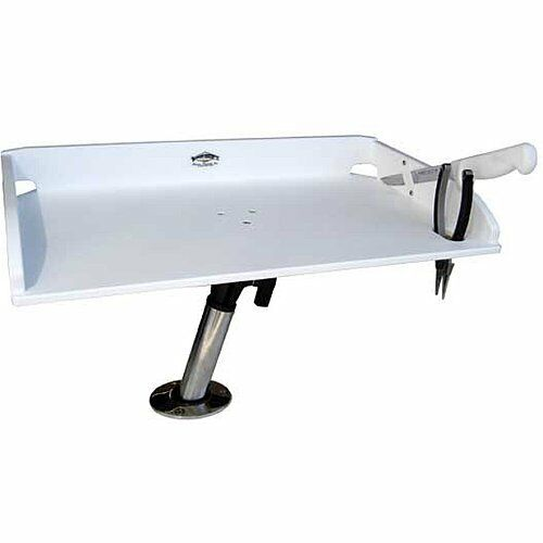 Bait Board Table W  Swivel Mount Boat Accessory Fishing Rod Reel Holder Hunting