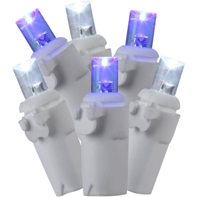 Holiday Time 70 Count Led Star String Christmas Lights Cool White Blue