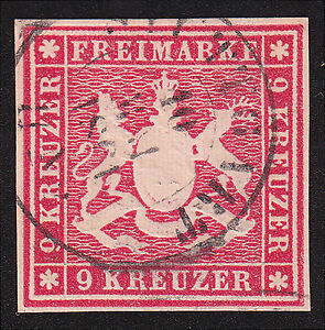 Wuerttemberg-Mi-Nr-14-a-gestempelt-Mi-Wert-100-5160
