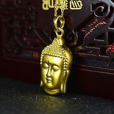 Pure 999 24k Yellow Gold Pendant/ 3D Bless Double Buddha Head Pendant/ 2.2-2.5g