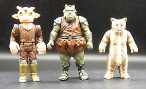 Lili Ledy Vintage Lot de figurines Star Wars Ree Yees Logray Gamorrean Kenner Mexique