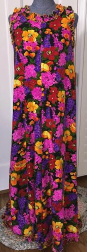 VINTAGE 1960s ALICE OF CALIFORNIA TROPICAL FLORAL
