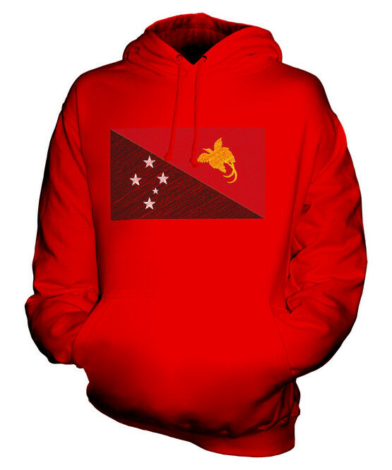 PAPUA NEW GUINEA SCRIBBLE FLAG UNISEX HOODIE TOP GIFT PAPUA NIUGINI GUINEAN