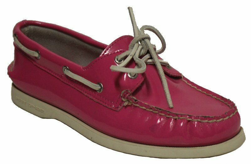 Sperry Women's 9836107 Boat Shoes Hot Pink Patent Leather US 8 NOB