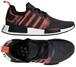 Details about ADIDAS ORIGINALS NMD R1 RUNNER STENCIL PACK CASUAL MEN's BLACK SOLAR RED NEW