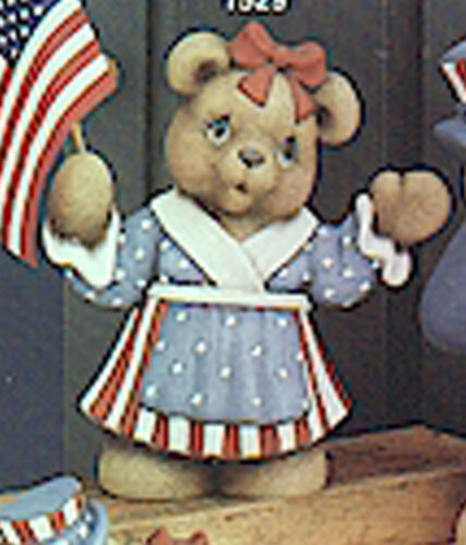 "Aunt Betsy Bear 9/"" Ceramic Bisque Ready to Paint"
