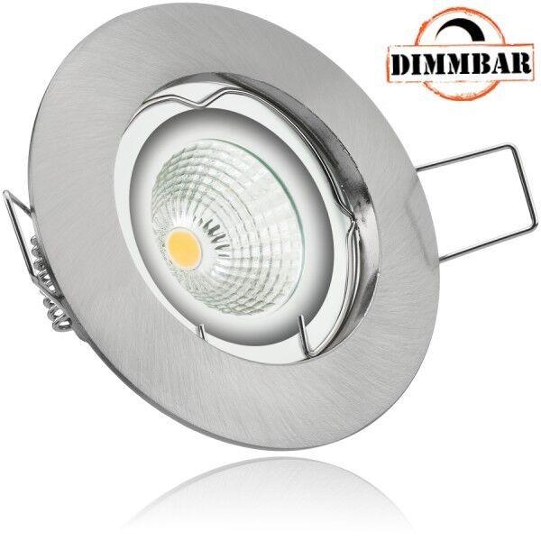 LED Einbaustrahler Set EXTRA FLACH (35mm) in Silber gebürstet mit LED Markenleuc | Adoptieren  | Günstige  | Online Kaufen