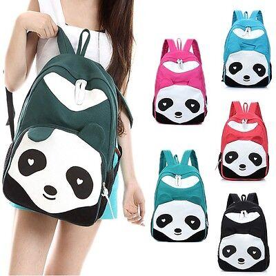 New Cute Women's Canvas Travel Satchel Shoulder Bag Fashion School Backpack Pand