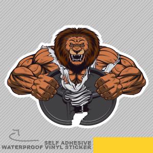 Strong Lion Big Biceps Body Gym Wei Vinyl Sticker Decal Window Car Van Bike 2652
