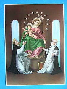 Catholic-Print-Picture-Poster-OUR-LADY-OF-POMPEI-Rosary-20x28-034-size