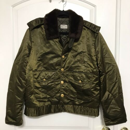 Vintage Tuffy Jac Horace Faux Fur Army Green Bombe