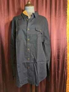 NEW JACHS Navy Blue Cotton Button Up Blouse Women XL NWT Closet164*