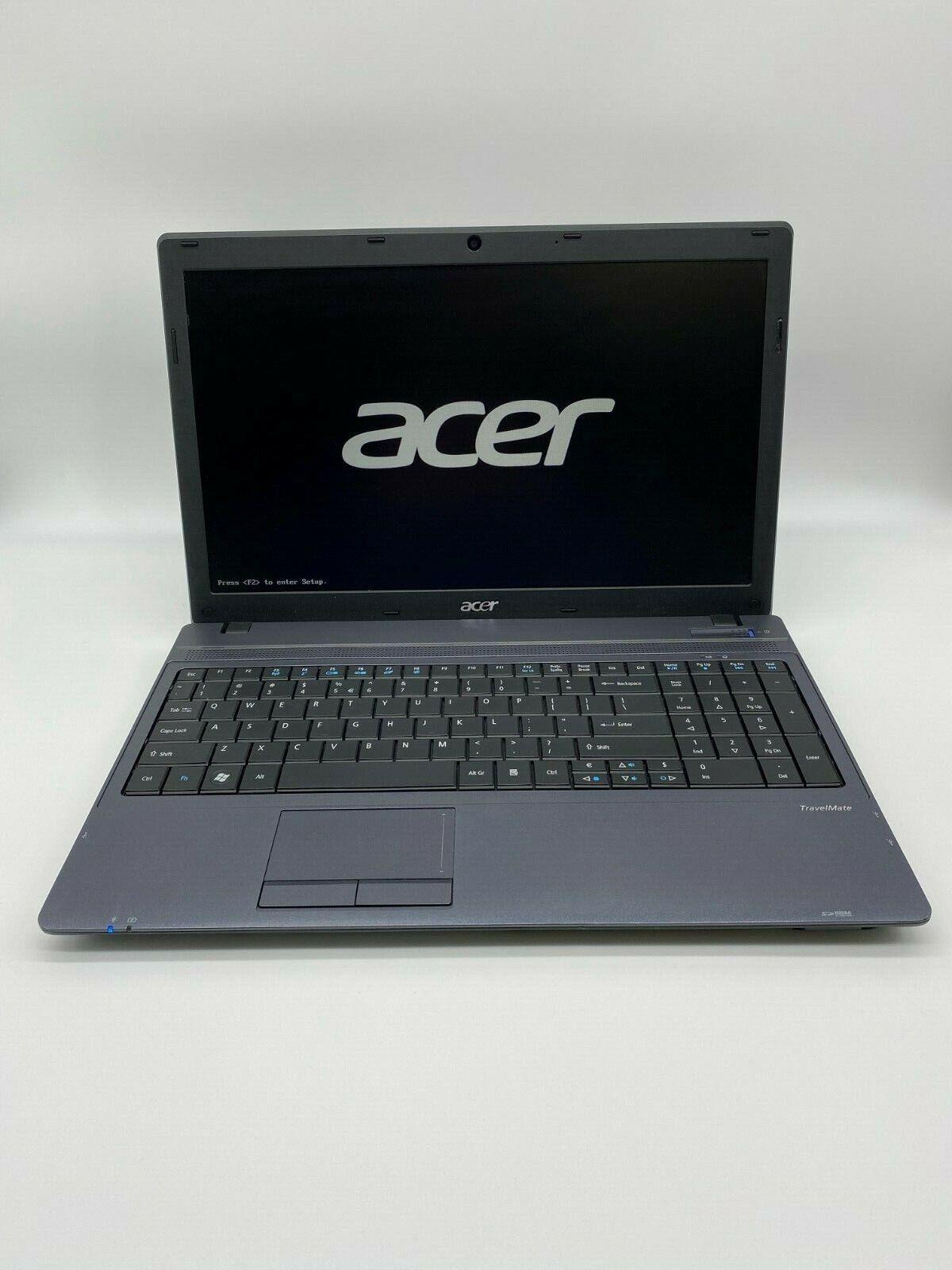 "Acer TravelMate 5742 Laptop 15.6"" Intel i3-380M 2.60GHz 4GB RAM 120GB SSD Win 10"
