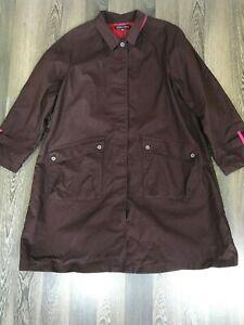 Gudrun-Sjoden-Sjoden-Burgundy-Coat-Jacket-Size-L-With-2-Front-Pockets