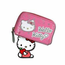 Hello Kitty Zip Around Purse Wallet Zippered Coin Compartment Pink Silver New