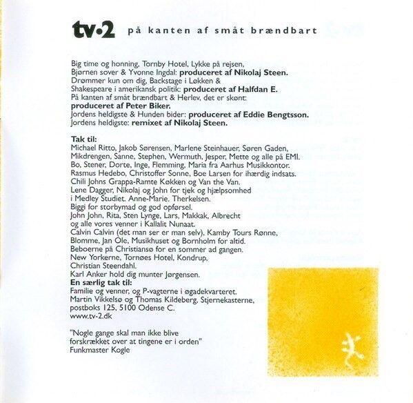 tv•2 (TV2 - TV-2): På Kanten Af Småt Brændbart, rock
