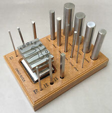 Swage Block With 16 Punch Set made of Steel Dapping Forming Shaping Craft Tools