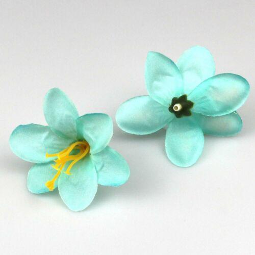 10-20X  Lily Artificial Silk Flower Heads Bulk Flower Wedding Party Crafts Decor