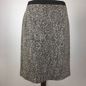 0e31bf338a Talbots Women's Size 10 Skirt Brown Tweed Pencil Wool Blend Lined | eBay