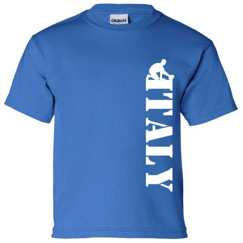 ITALIA verticale Kids Rugby Maglietta 6 Nazioni Coppa del Mondo Inghilterra Irlanda Galles