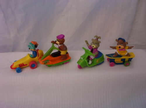 1991 McDonalds YO-YOGI Toys Set 4 FIGURES¤CINDY¤BOO BOO¤Huckleberry Hound¤