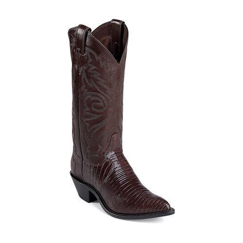 Women's Justin Western Boot Brown Iguana Lizard L4788